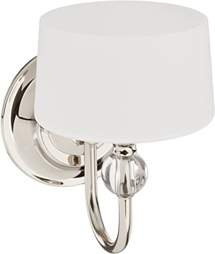 Progress Lighting P7049-104WB Transitional One Light Wall Sconce from Fortune Collection in Polished Nickel Finish
