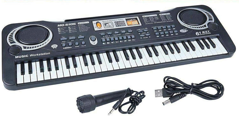 61 Keys Digital Music Electronic Keyboard Electric Piano Organ /& Microphone Set