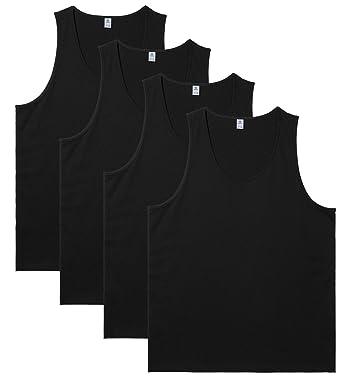 2ed39e0e82fee Amazon | (ラパサ)Lapasa タンクトップ 綿100% 4枚組 インナーシャツ メンズインナー 肌着 下着 無地 重ね着 ノースリーブ  アンダーウェアM36 | インナーシャツ 通販