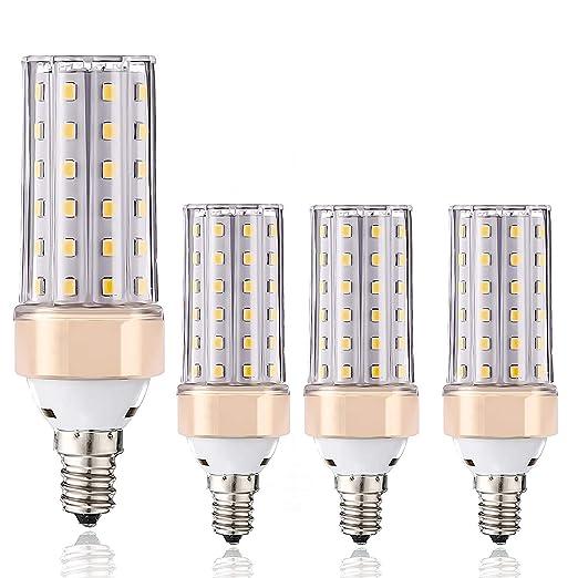 ILAMIQI - Bombillas LED de maíz regulables E14 (10 W, equivalentes ...
