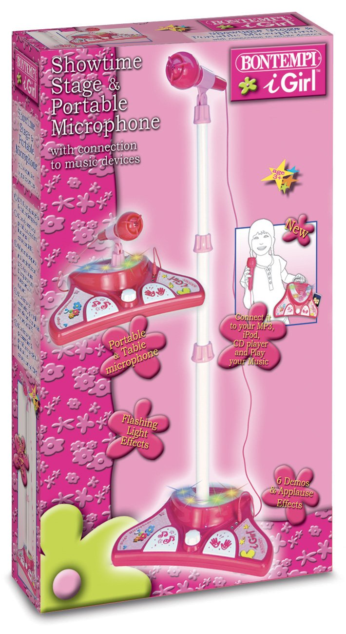 Bontempi iGirl Pink Portable Karaoke Set with Extra Microphone by Bontempi (Image #1)
