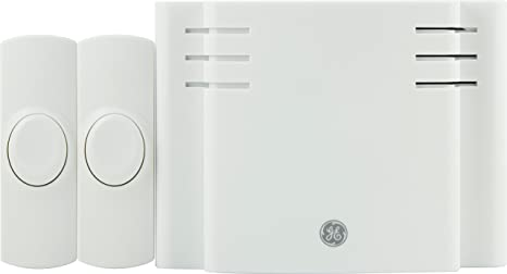 GE Battery-Operated Wireless Door Chime with 2 Pushbuttons White 8 Melody  sc 1 st  Amazon.com : wireless door - pezcame.com