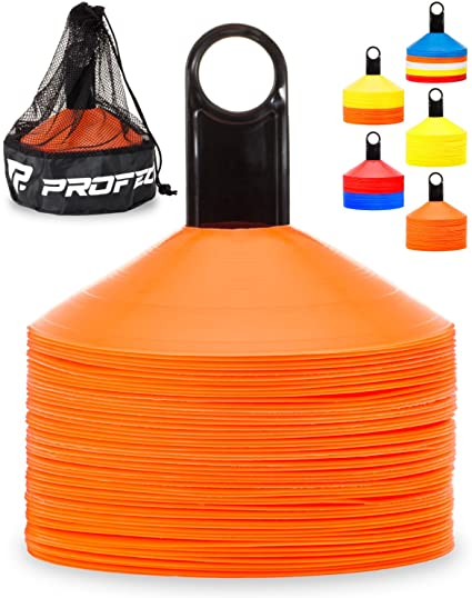 20pcs Pressure Resistant Disc Cones Soccer Agility Training Cone Markers N#S7