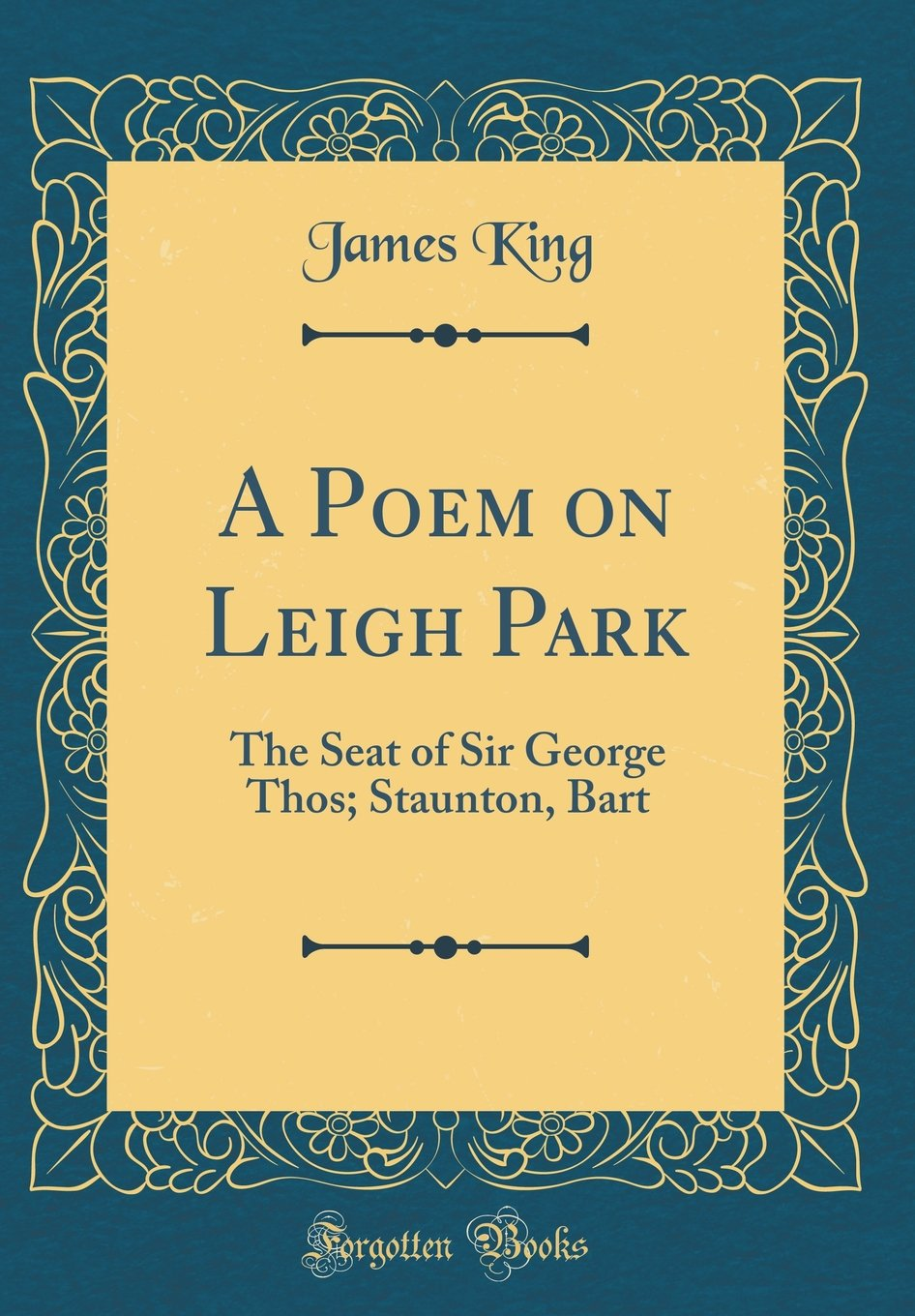 Buy A Poem On Leigh Park The Seat Of Sir George Thos