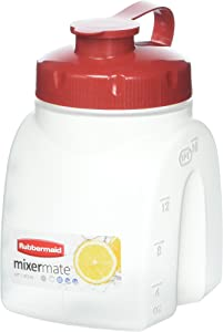 Rubbermaid - MixerMate Servin' Saver Beverage Container in White(1PT /473 mL)