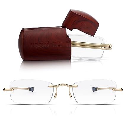 f9bdda52a7 Read Optics Pieghevoli da Uomo/Donna: Occhiali da Lettura Presbiopia  Tascabili con Lenti Trasparenti
