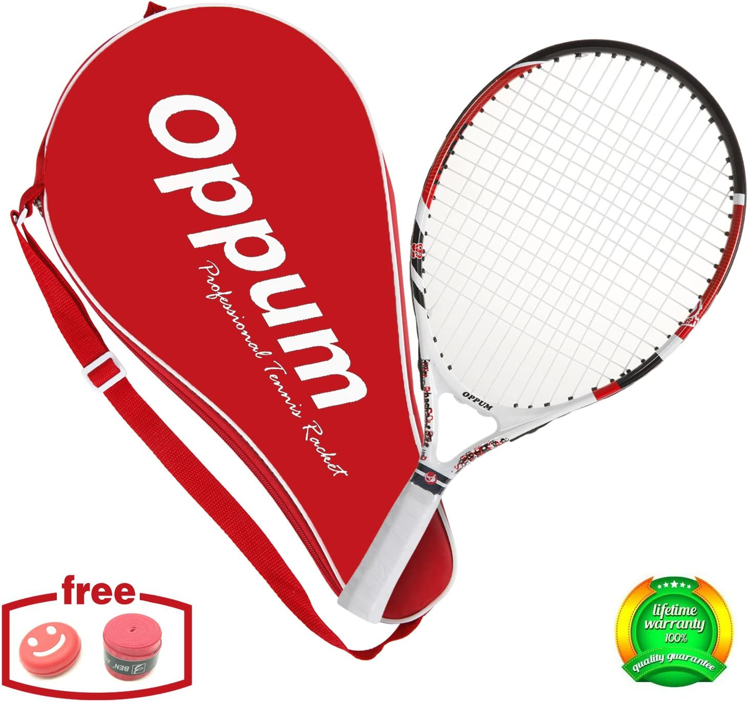 oppum US Open Junior Tennis Racket for Kids Children Toddlers, Coach Recommended Racquet, Include Tennis Bag Overgrip Vibration Dampener