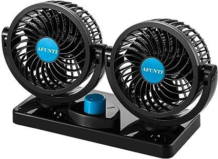 Ventilador Coche 12V, 360 Grado Giratorio Silencioso Ventilación ...