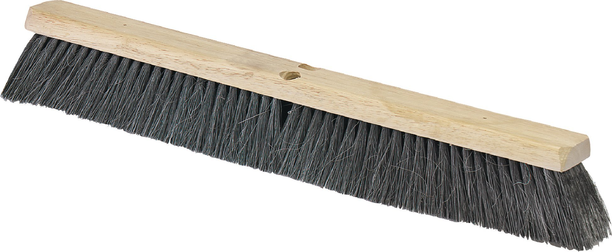 Carlisle 36202403 Flo-Pac Hardwood Block Medium Floor Sweep, Horsehair/Polypropylene Bristles, 24'' Block Size, 3'' Bristle Trim, Black