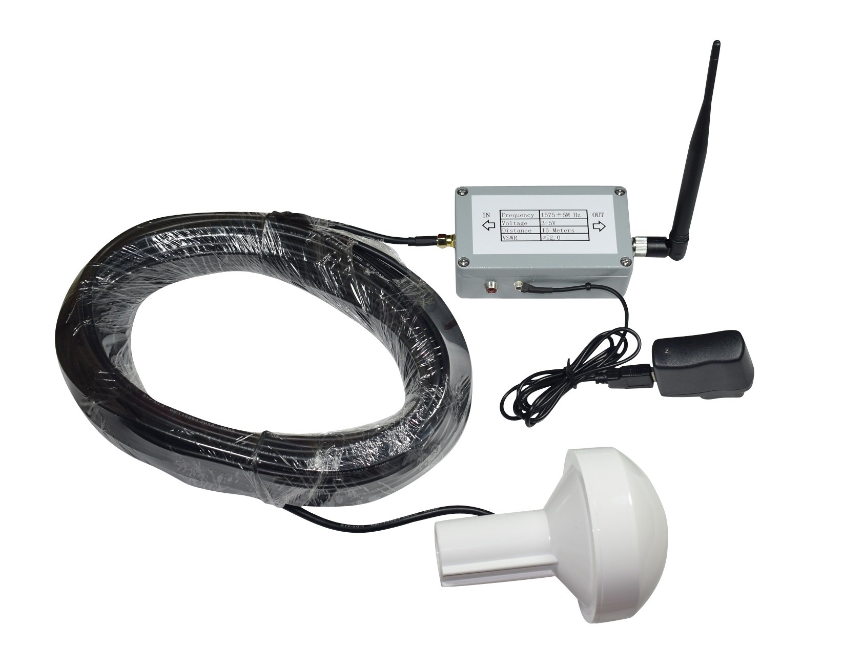 GPS Signal Repeater Transfer L1 DB2 Full Kit Distance 15 Meter by ONETAK
