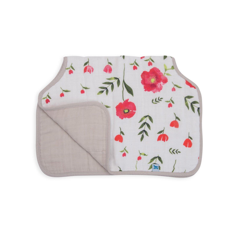 Little Unicorn Cotton Muslin Burp Cloth - Summer Poppy by Little Unicorn