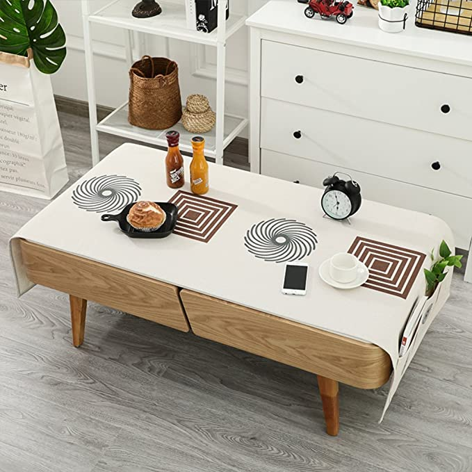Amazon.com: Cotton-linen table cloth Nordic coffee table ...