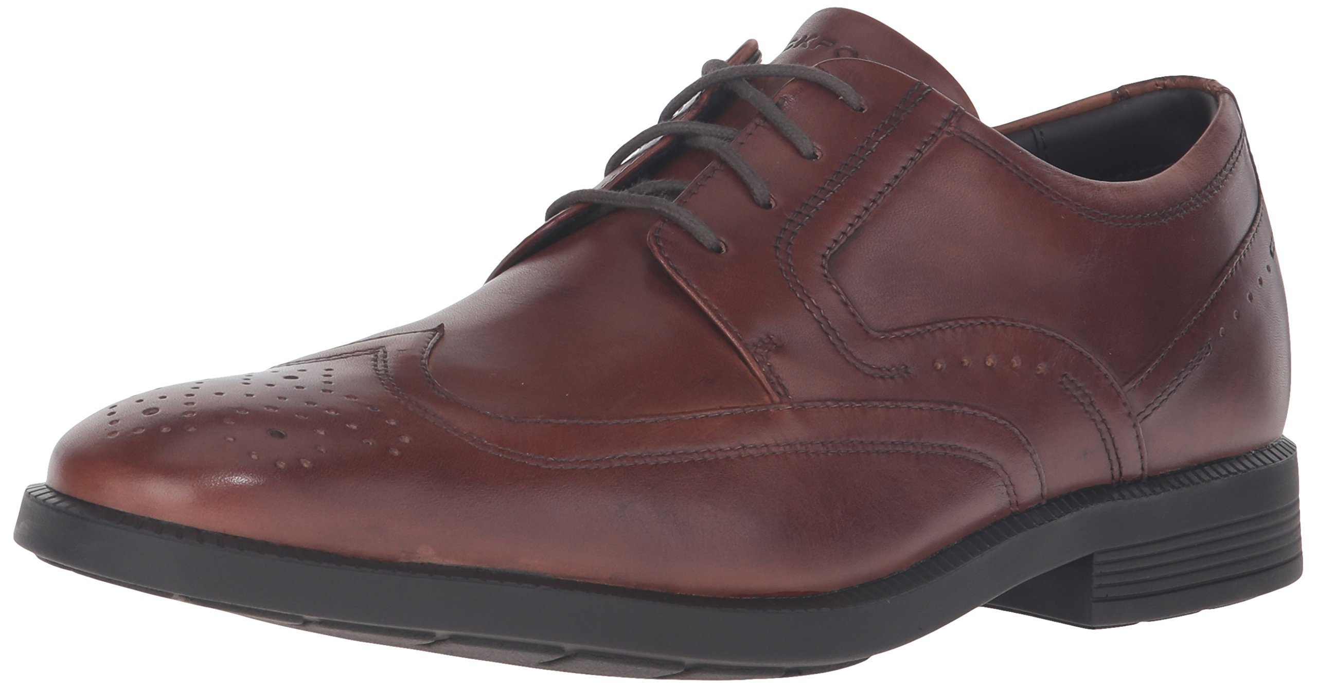 Rockport Men's Dressports Business Wing Tip Shoe, New Brown, 13 W US
