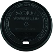 Solo TLB316-0004 Black Traveler Plastic Lid - For Solo Paper Hot Cups (Case of 1000)