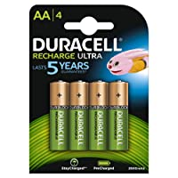 Duracell Recharge Ultra Type AA Battery, 2500mah, Pack of 4