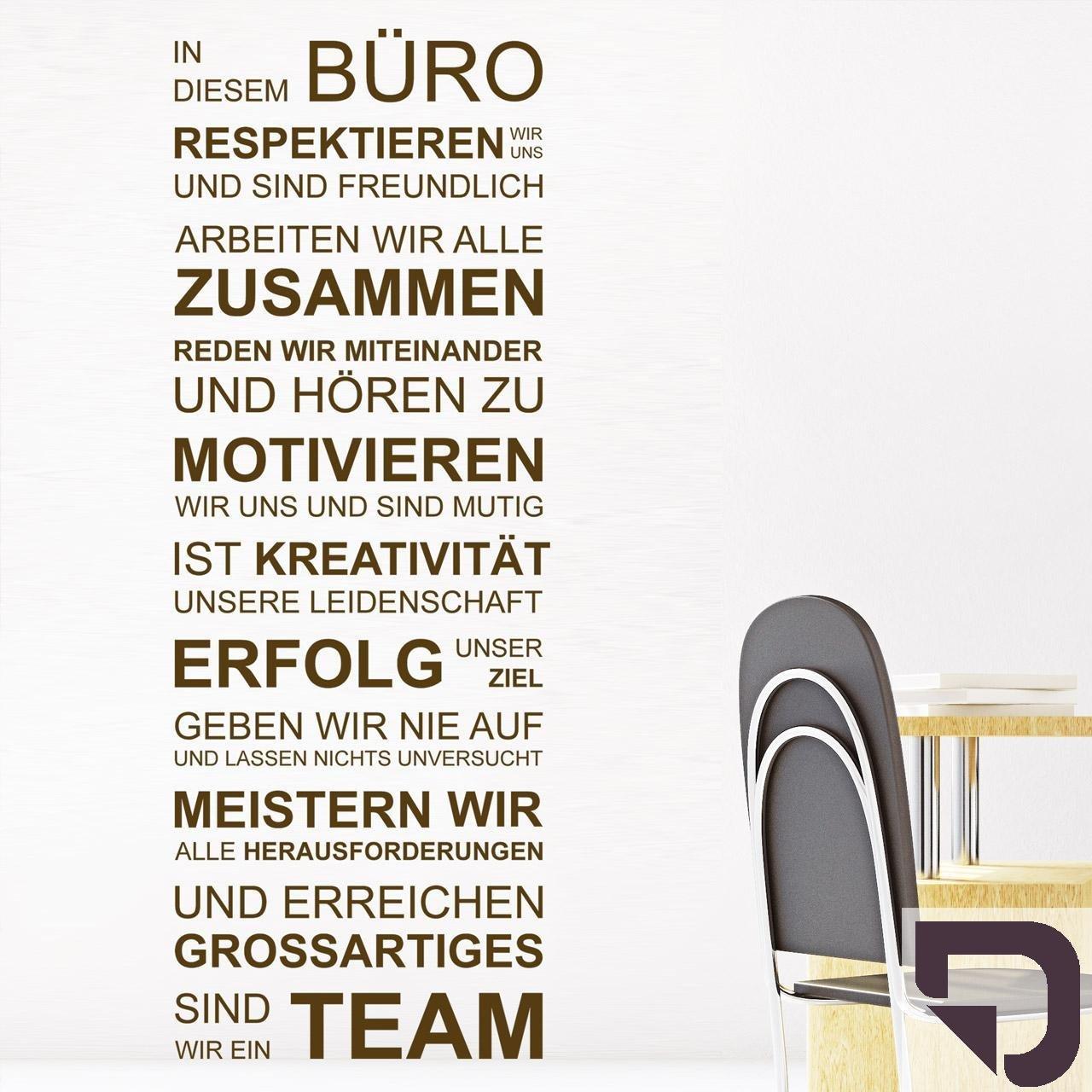 DESIGNSCAPE® Wandtattoo Wandtattoo Wandtattoo In diesem Büro respektieren wir uns, arbeiten wir alle zusammen, geben wir nie auf, sind wir ein Team... 67 x 180 cm (Breite x Höhe) schwarz DW801462-L-F4 B01H3YOWF4 Wandtattoos & Wandbilder 83761b