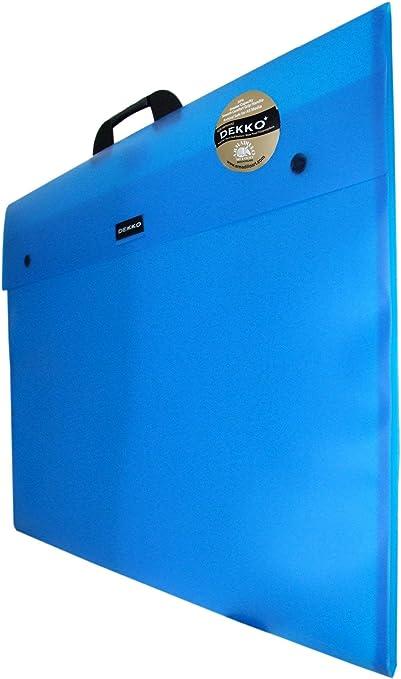 formato fuelle, tama/ño A1 color azul Dekko Malet/ín portadocumentos
