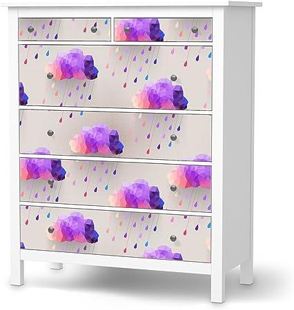 Cassettiera Ikea Hemnes 6 Cassetti.Cassettiera 6 Cassetti Pellicola Ikea Hemnes Design Adesivi Rainy