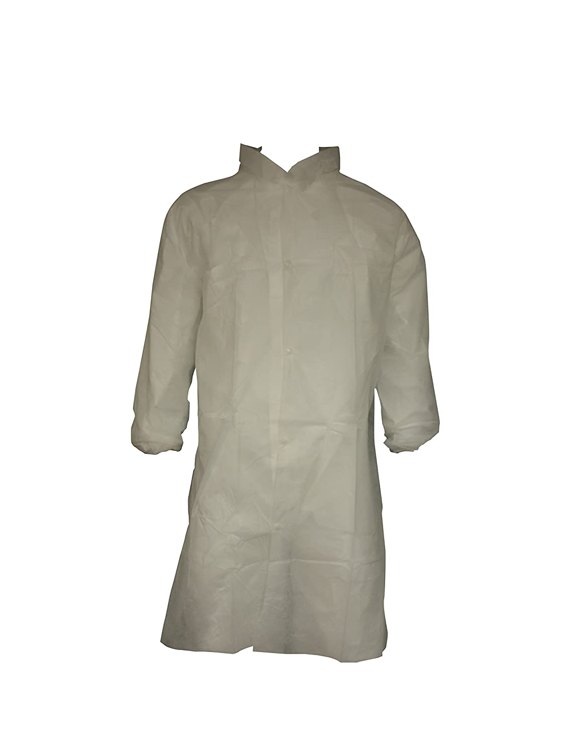 X-Large DuPont Tyvek 400 TY212S Disposable Lab Coat with Open Cuff White Pack of 30