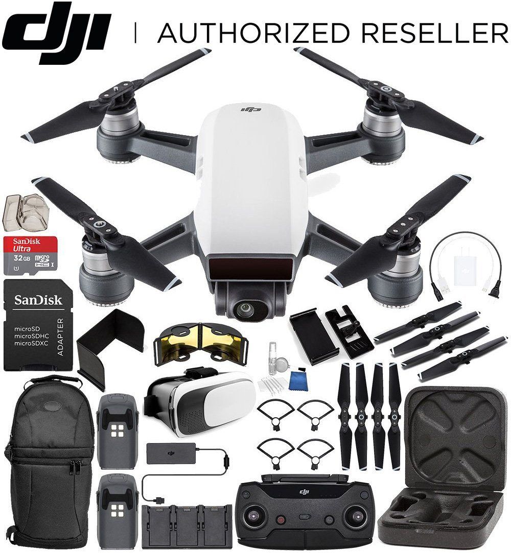 DJI Spark Portable Mini Drone Quadcopter Fly More Combo Bundle