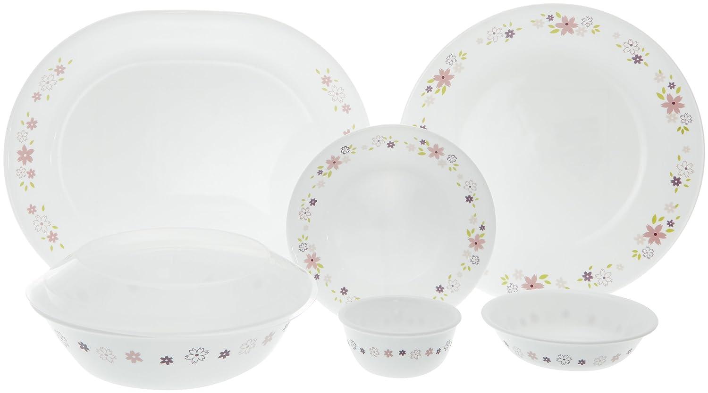 Corelle Livingware Floral Fantasy Round Dinner Set, 30-Pieces