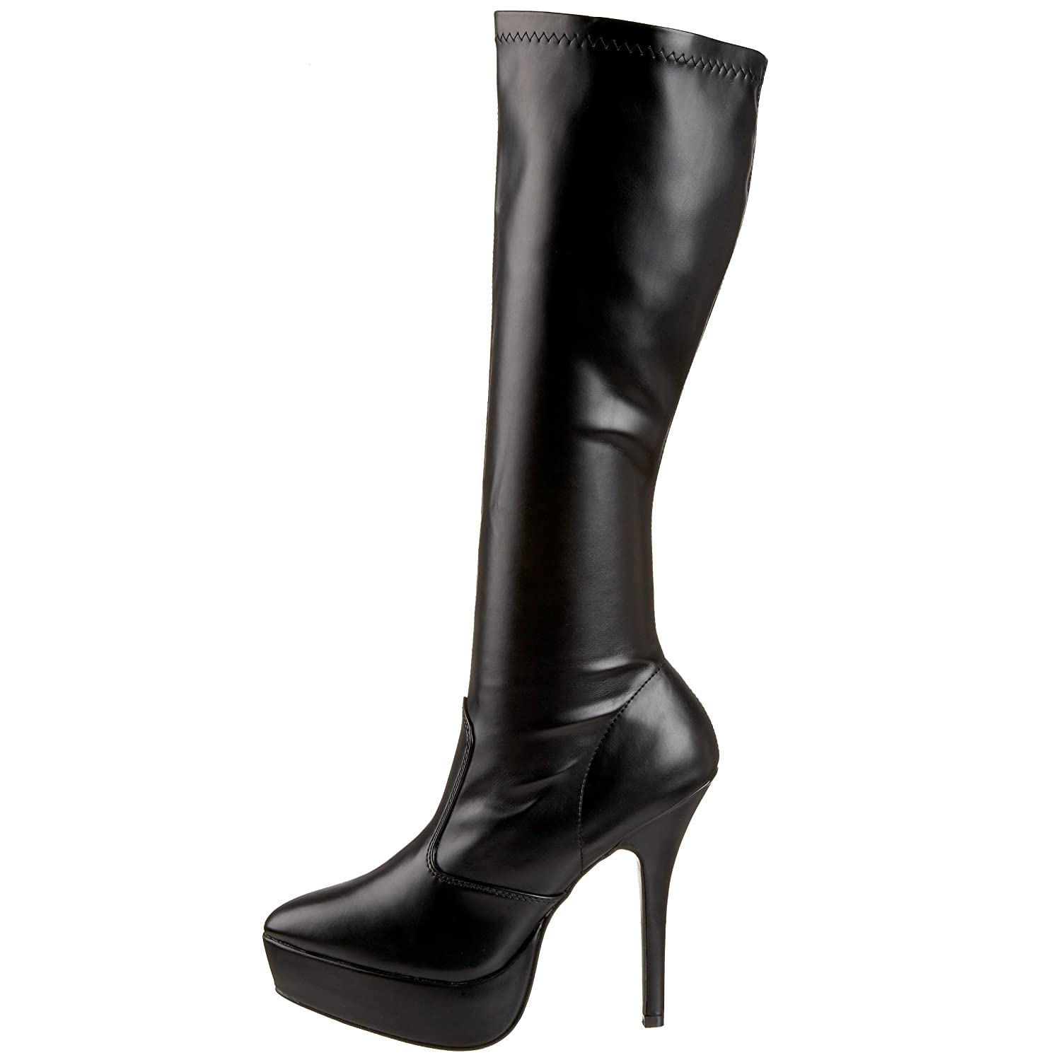 Pleaser Women's Indulge-2000 Platform US|Black Boot B000XUPHOQ 9 B(M) US|Black Platform Stretch Pu e63c9a