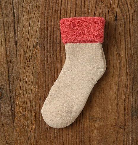 Calcetines Calcetines cálidos Mujeres Invierno Color 5 Pares Espesar Calcetines niña Mujer Calcetines de algodón: Amazon.es: Deportes y aire libre