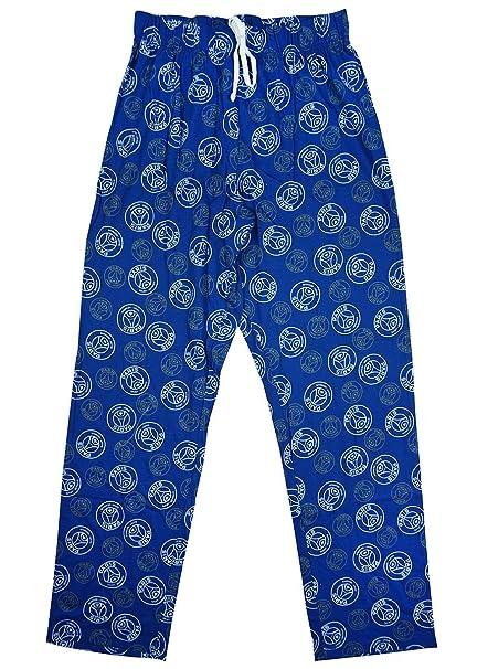 Paris Saint Germain FC - Pantalón de Pijama - para Hombre Azul Azul Large