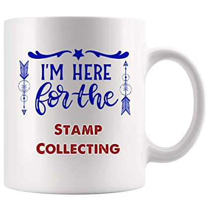 Here For Stamp Collecting Mug Coffee Cup Tea Mugs Gift   Kid Son Daughter Gift collector