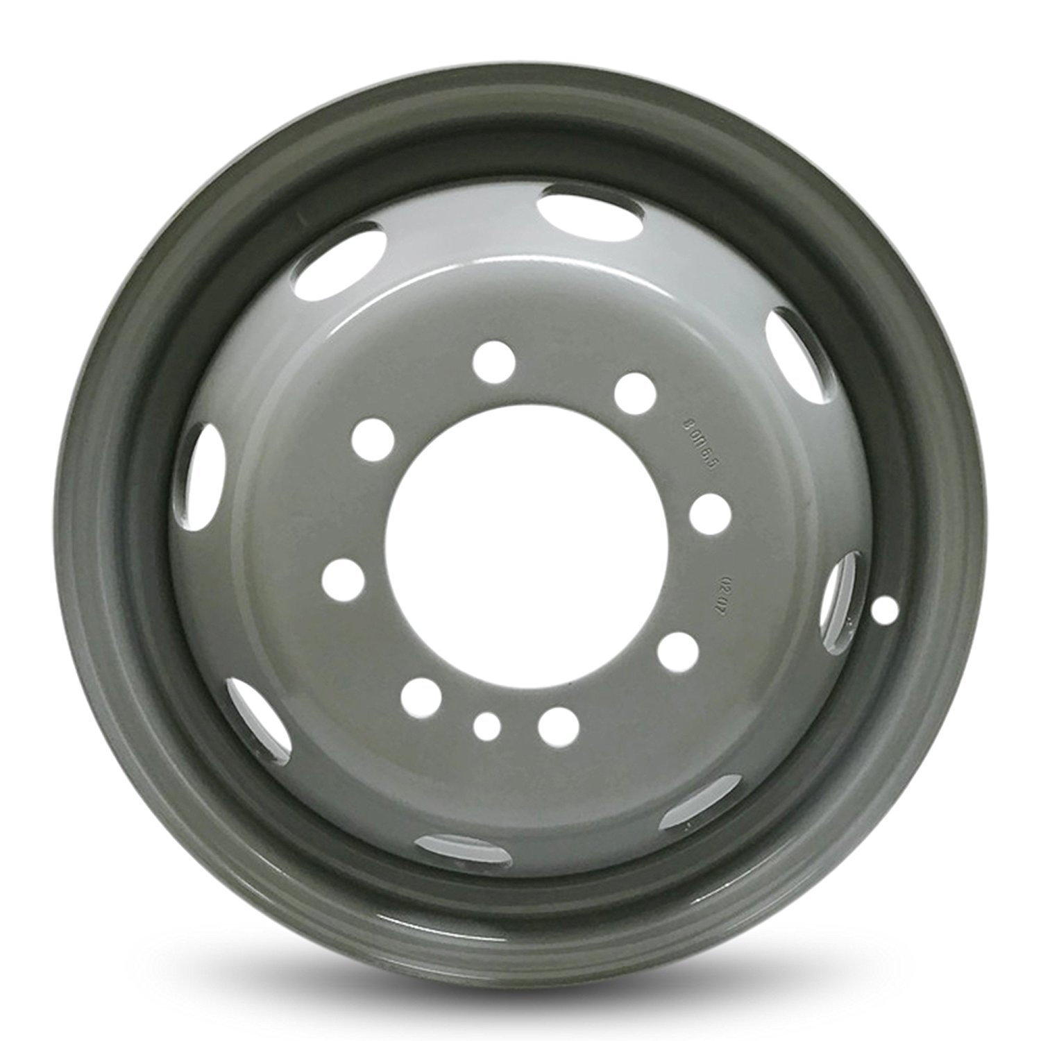 Road Ready Car Wheel For 1992-2007 Ford E350 1996-2003 Ford E450SD 16 Inch 8 Lug gray Steel Rim Fits R16 Tire - Exact OEM Replacement - Full-Size Spare