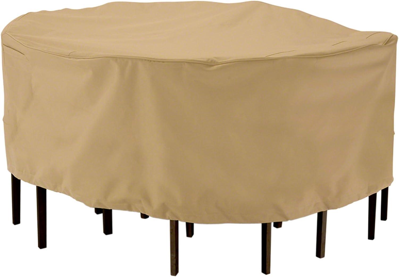 Classic Accessories Terrazzo Round Patio Table Chair Set Cover, Medium