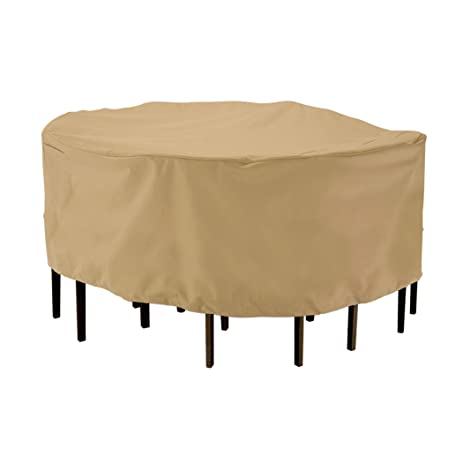 Awesome Classic Accessories Terrazzo Round Patio Table U0026 Chair Set Cover   All  Weather Protection Outdoor Furniture
