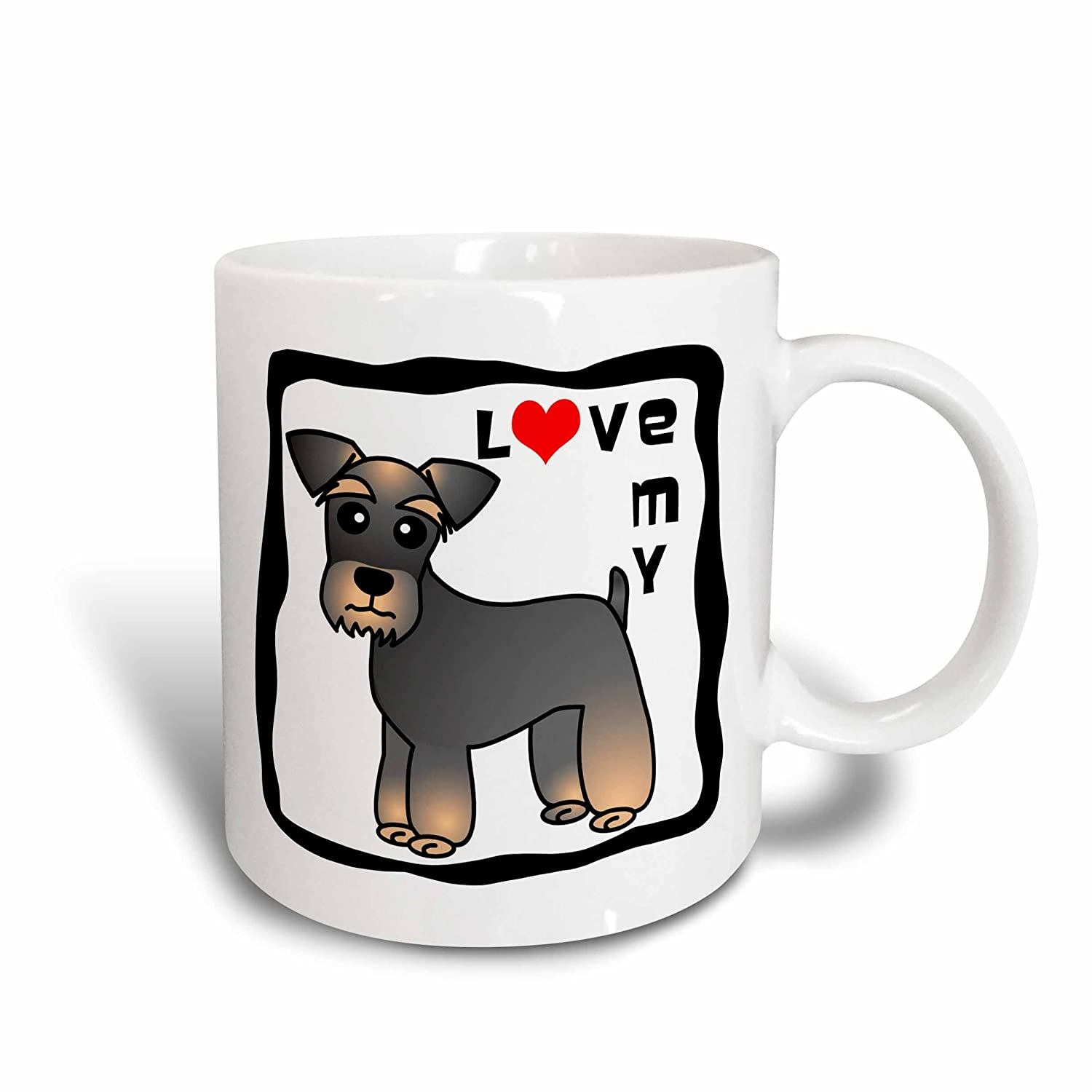 - Red Heart I Love My Miniature Schnauzer Dog Salt and Pepper 11oz Two-Tone Red Mug 3dRose Janna Salak Designs Dogs Banded Brown Base Coat mug/_40891/_5
