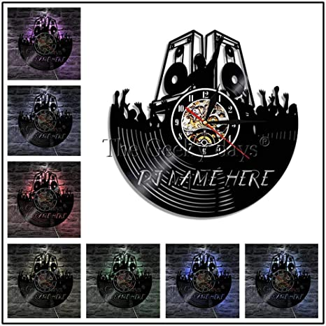 ClockGH 1 Pieza DJ Creativo Personalizar Nombre Música Disco de ...