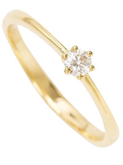 5dd0c6b9dff2 MyGold Mujer 14 k (585) oro amarillo 14 quilates (585) corte brillante