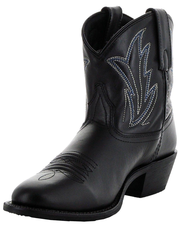 Soto Boots Janis Women's Ankle Cowboy Boots by M3003 B075G142MR 9 B(M) US|Black