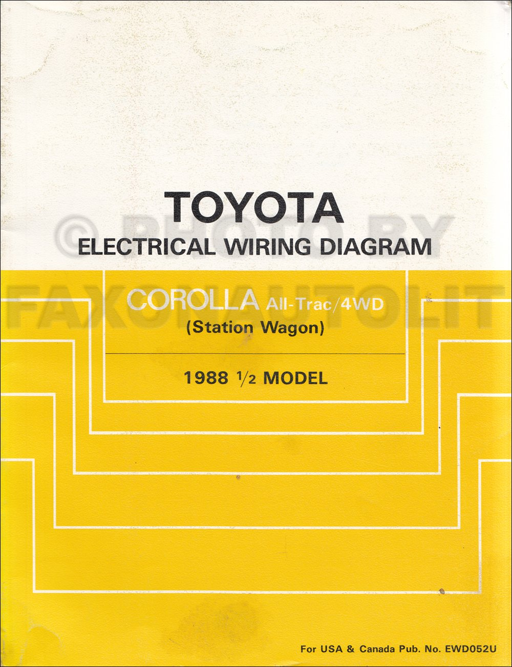 1988 Toyota Corolla All-Trac/4WD Station Wagon Wiring Diagram Manual  Original: Toyota: Amazon.com: Books