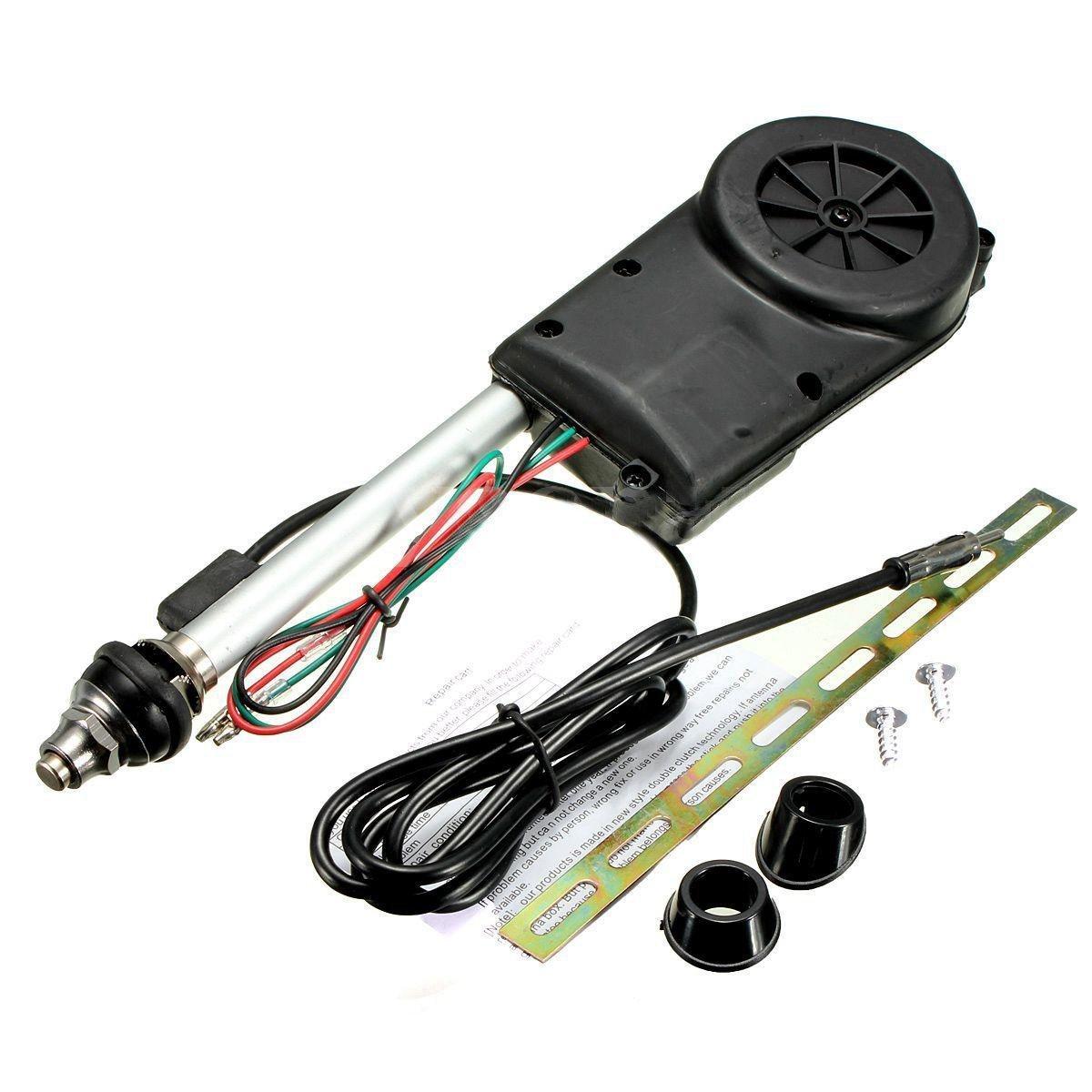 Conjunto de antena - SODIAL(R)Conjunto de antena electrica de propulsion automatica de radio de coche negro 060727