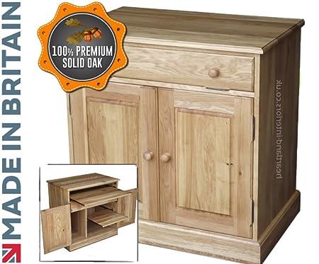 traditional hidden home office desk. 100% Solid Oak Desk, Drop Down Traditional Computer Workstation, Hideaway, Hidden Home Office Desk /