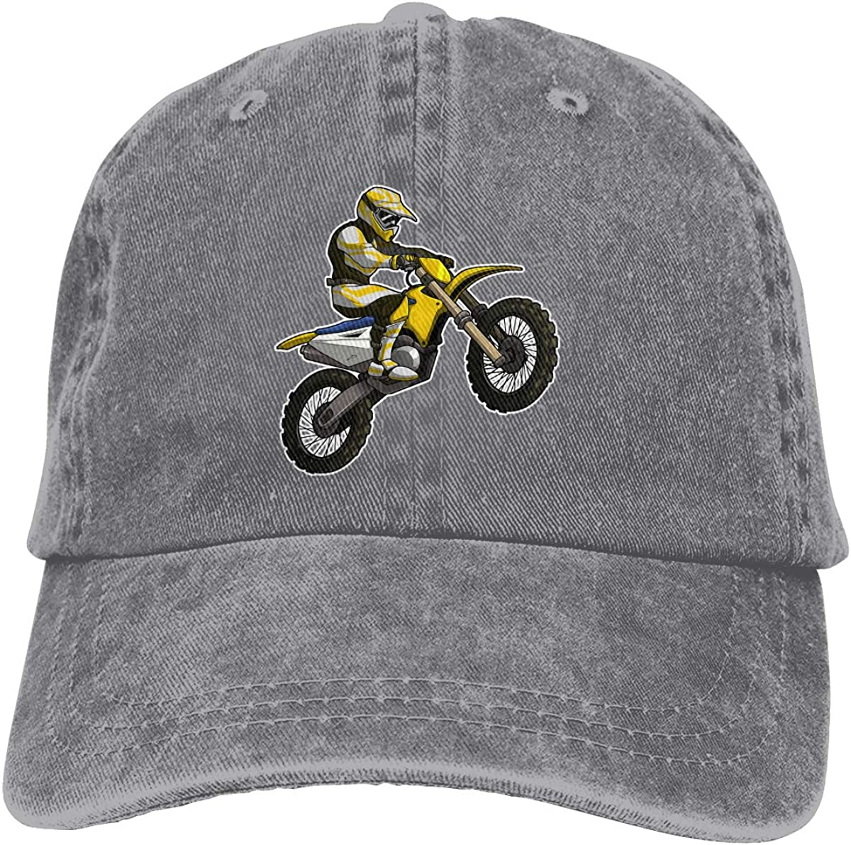 Men Women Motocross Vintage Washed Dad Hat Cute Adjustable Baseball Cap