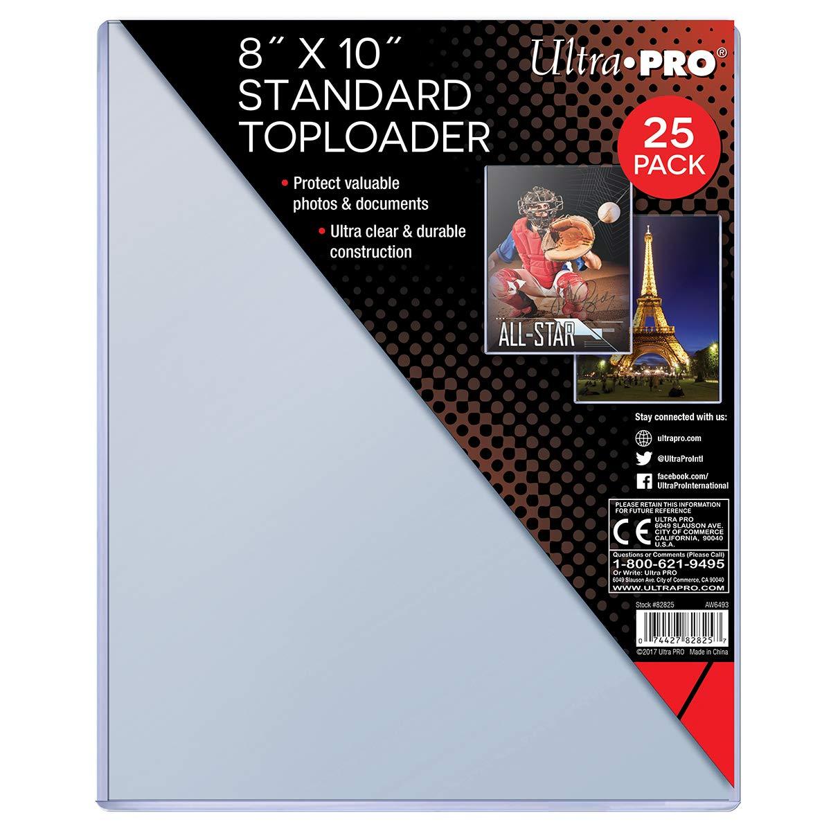 25 Ultra Pro 8 x 10 Toploader Top Loader  Photo Magazine Card Holder  82825