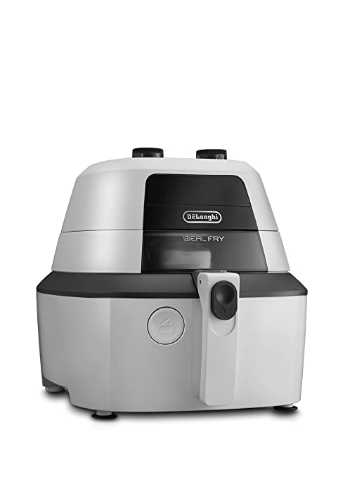 DeLonghi IdealFry Hot air fryer Solo Negro, Blanco Independiente 1400 W - Freidora (Hot