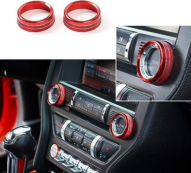 L U Innenraum Sprachlautstärkeregler Tune Knob Switch Cover Dekoration Ring Trim Für Ford Mustang 2015 2018 Rot Küche Haushalt
