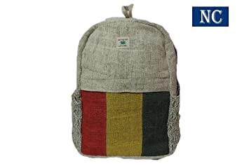 Amazon.com: Nepali Handmade Pure Hemp Rasta Backpack with Laptop ...