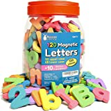 Roscoe Learning Magnetic Letters and Numbers- 130 Foam ABC Magnets with Storage Container