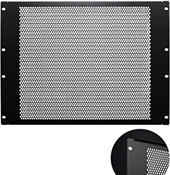 1U Toolless Vented Blank Rack Mount Panel Network Spacer for 19-Inch Cabinet