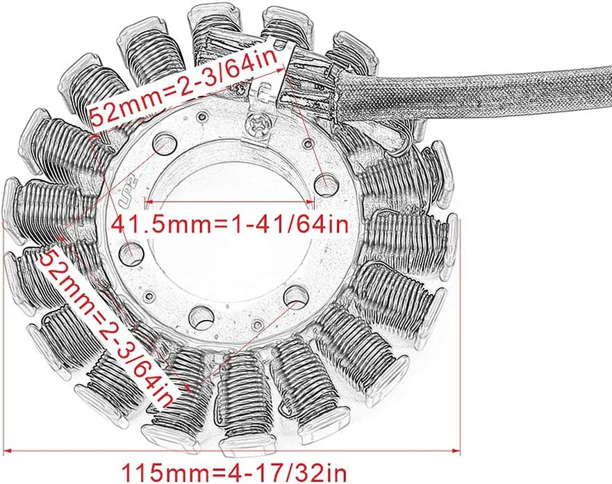 Bjmoto Stator Coil Ignition for Trium ph T1300111 T1300509 Speed Triple Sprint GT ST Tiger 1050 T1300510 T1300507 Daytona 955i 2002-2006 2007-2013