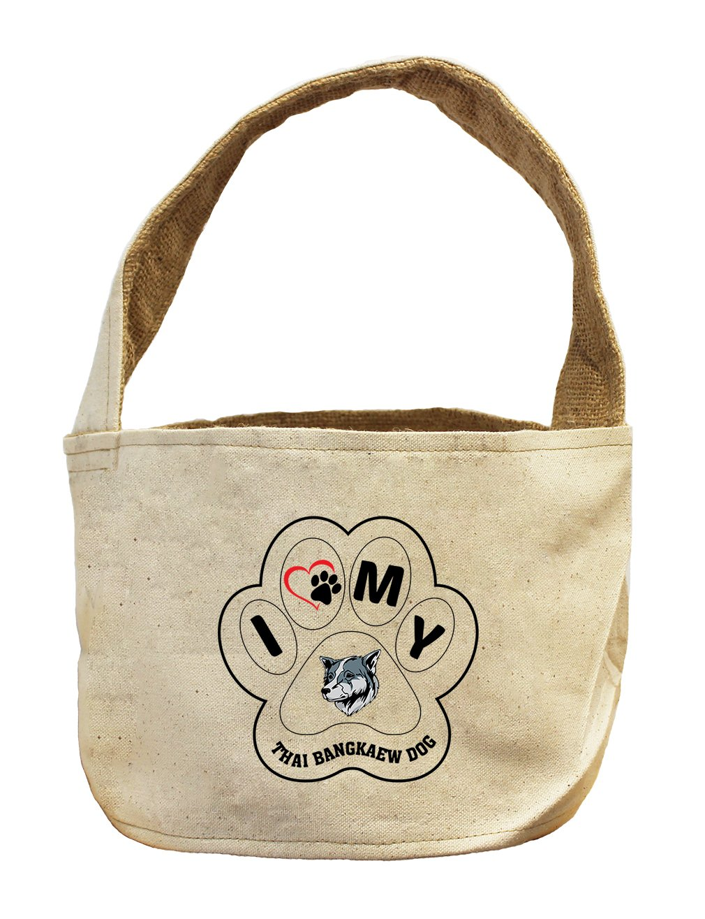 Style in Print Canvas And Burlap Storage Basket I Paw My Thai Bangkaew Dogdog by Style in Print