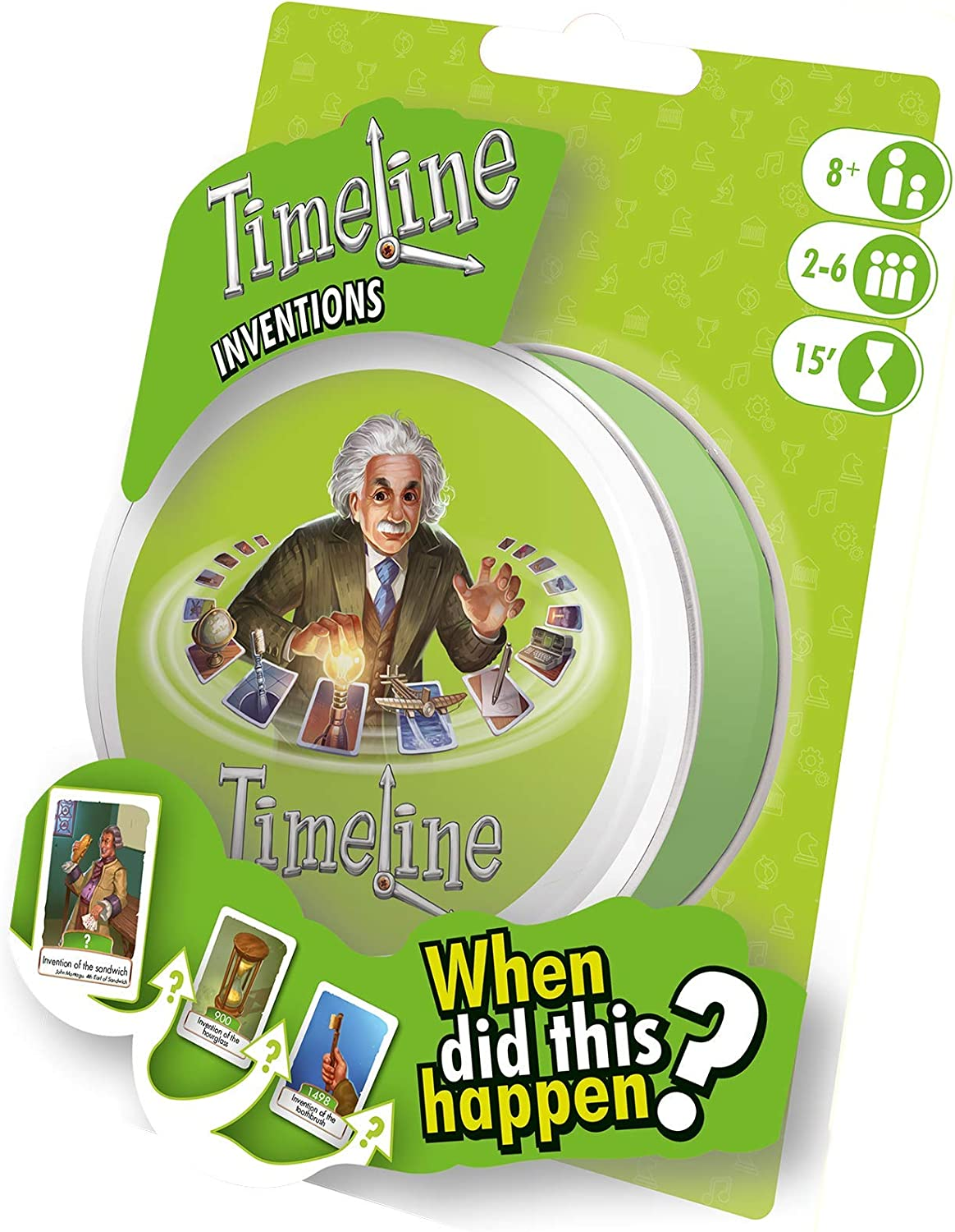 Asmodee ASMTL01INVEN Timeline Inventions Blister, Colores Variados ...
