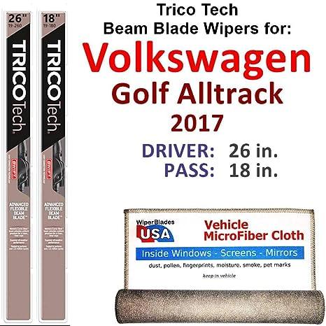 Amazon.com: Juego de limpiaparabrisas para Volkswagen Golf ...